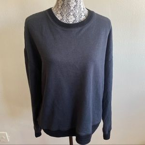 Joe's Jeans Dark Charcoal Sweater Crew Sz XL